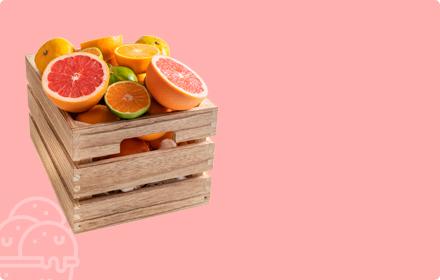 Regala fruta, fresco, sano natural